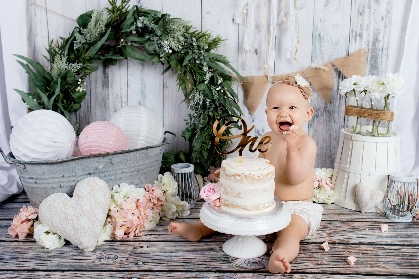 séance photos smash the cake bébé studio